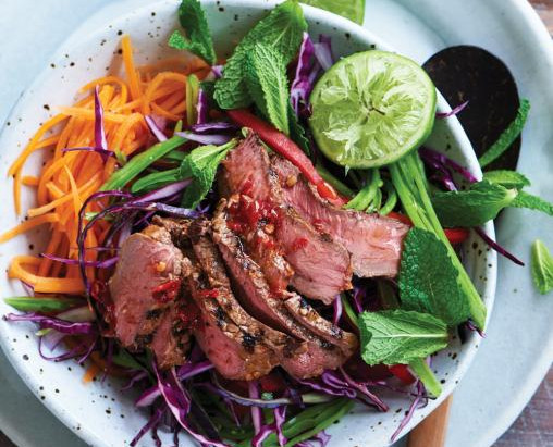 Dietitian's Pick: Vietnamese Barbecued Beef, Sweet potato & Mint salad