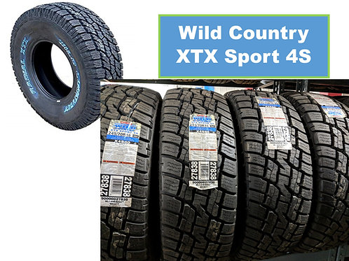 Set of 4 New - 265/70/18 Wild Country Tires