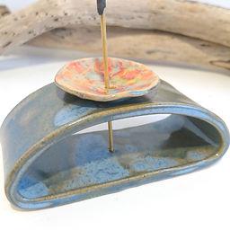 ceramic flower incense holder _8022.JPG