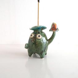 quirky ceramic incense holder