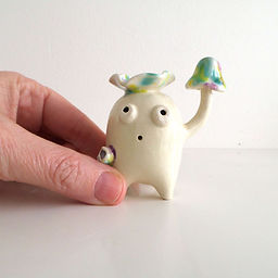 handmade ceramic incense holder creature
