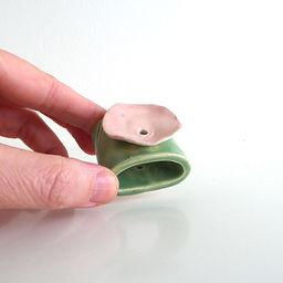 miniature handmade ceramic incense holde