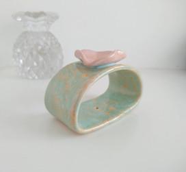 Sakura Sea unique ceramic incense holder