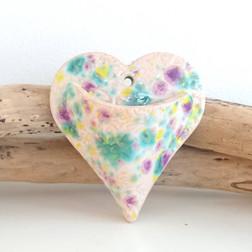 ceramic heart wall planter