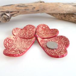 heart shaped ceramic ring dish