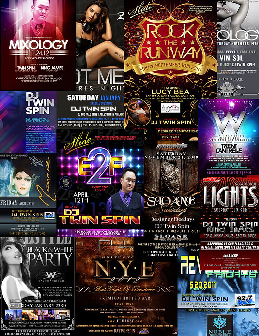 Nightclub flyer images