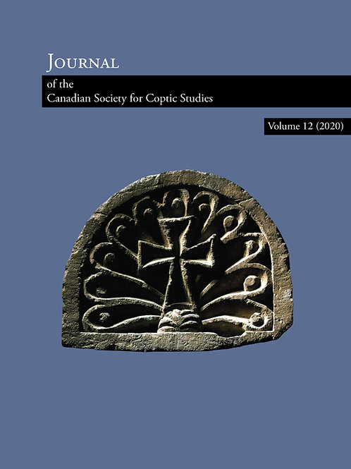 Journal of the Canadian Society for Coptic Studies 12 (2020)