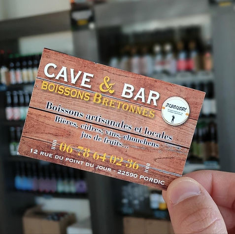 Cave et bar Pordic carte de visite