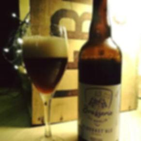 Bière brune artisanale Bretagne Plougast'ale brasserie Merlin