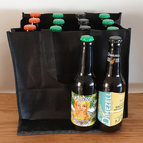 Sac de 12 bières avec séparateurs