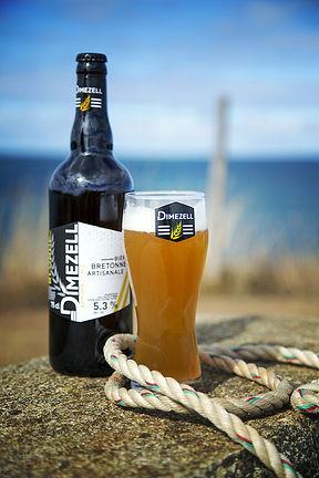 Bière blonde artisanale bretagne brasserie Dimezell