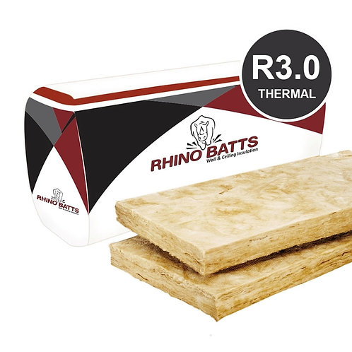 R3.0 165mm Glass Wool Insulation Batts