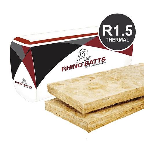 R1.5 75mm Glass Wool Insulation Batts