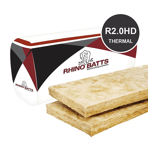 R2.0HD 75mm Glass Wool Insulation Batts