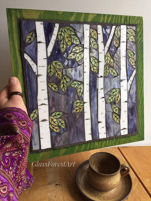 Sunset Birch Mosaic