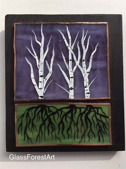 Tree of Life Birch (Purple Glass)