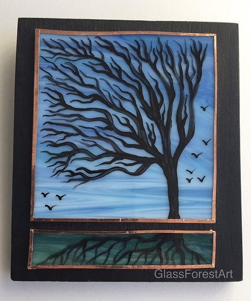 Tree of Life (Blue Glass)