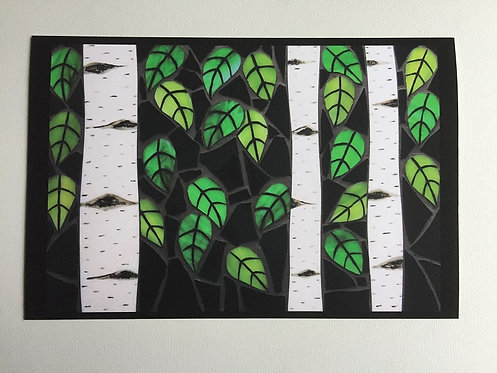 Abstract Birch Forest Print