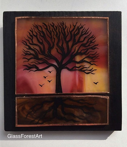 Tree of Life (Pinks/Reds/Yellow Glass)