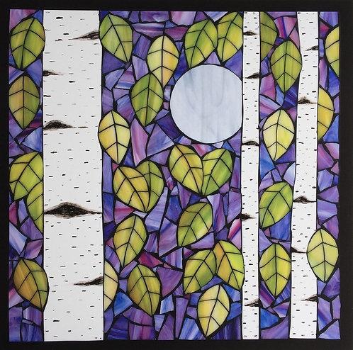 Birch Moon Print