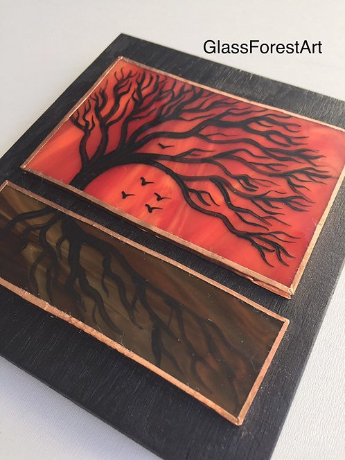 Tree of Life (Red/Orange Glass)