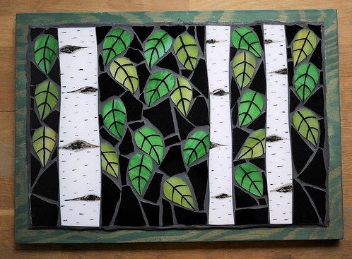 Abstract Birch Forest Mosaic