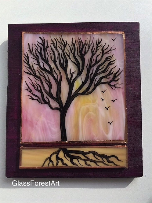 Tree of Life (Pink/Yellow Glass)