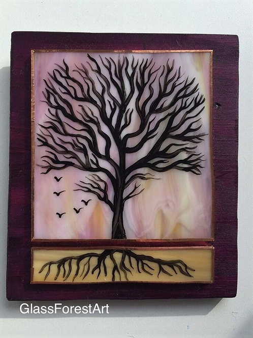 Tree of Life (Pink/Yellow Glass) 2
