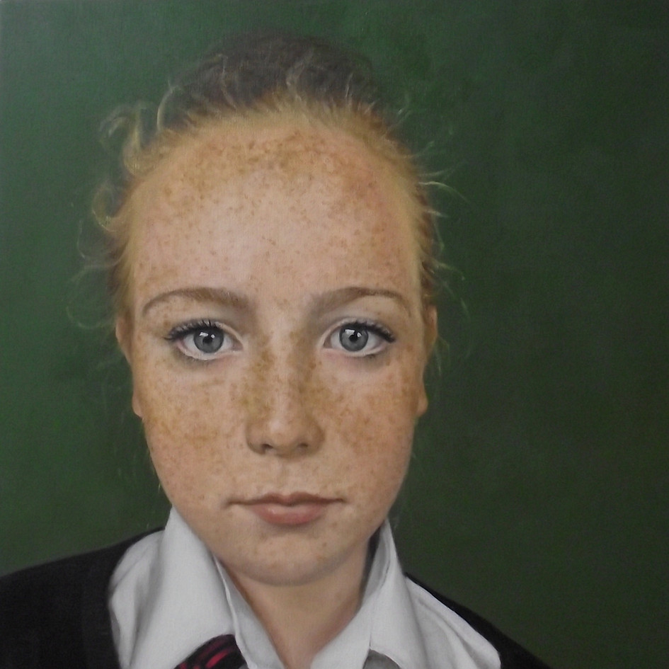 Pearl Close-Up  oil on panel, 36 x 36cm