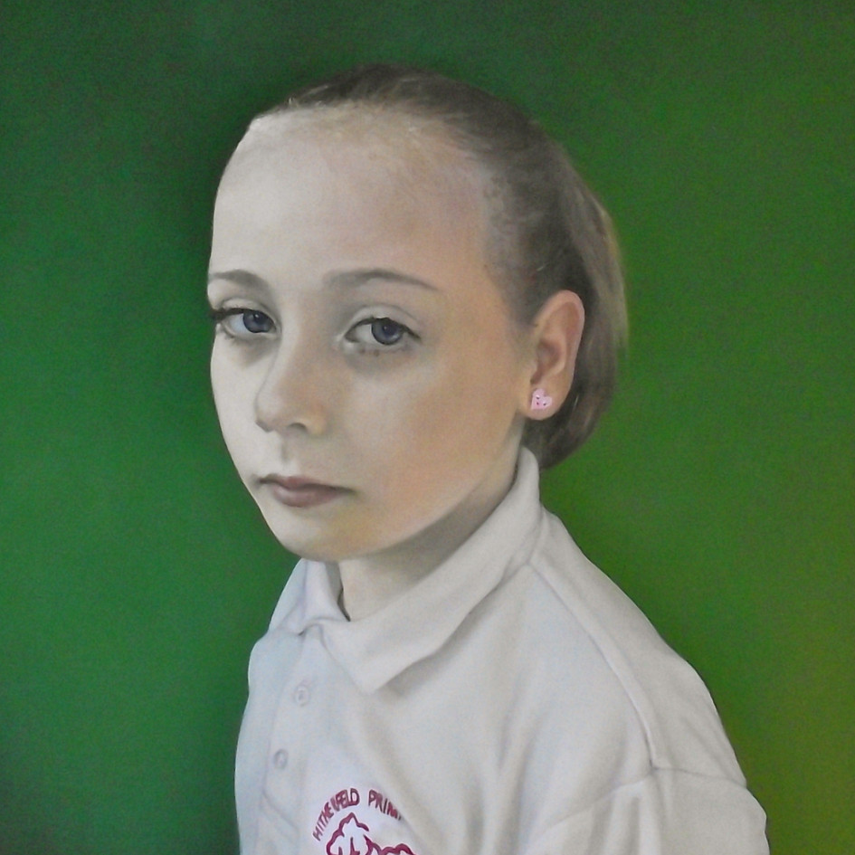 Rose's School Picture  oil on panel, 40 x 50cm