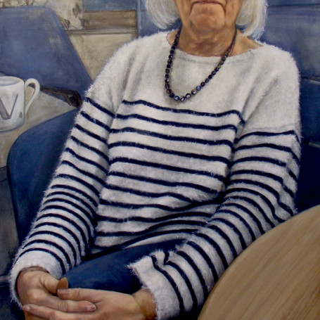 Dame Valerie Beral  oil on panel, 60 x 90cm