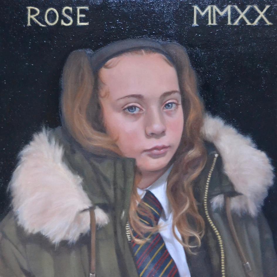 Rose MMXX  oil on panel, 30 x 30cm