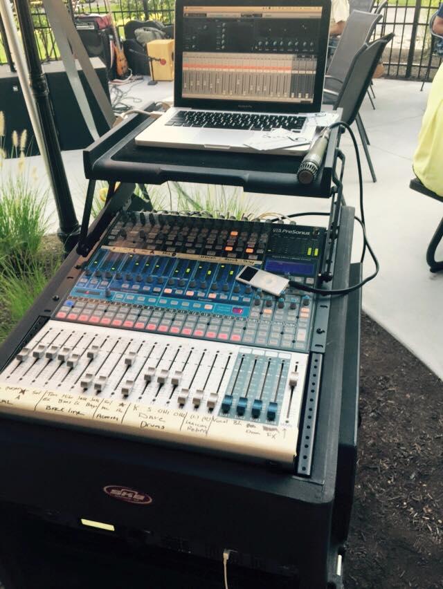 Mixer setup at Heather's Cafe