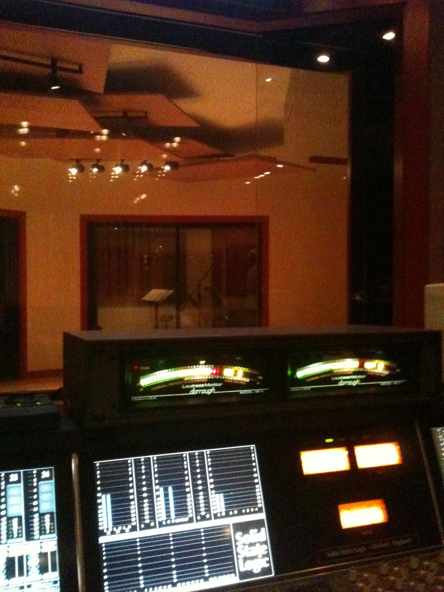 late night overdub session