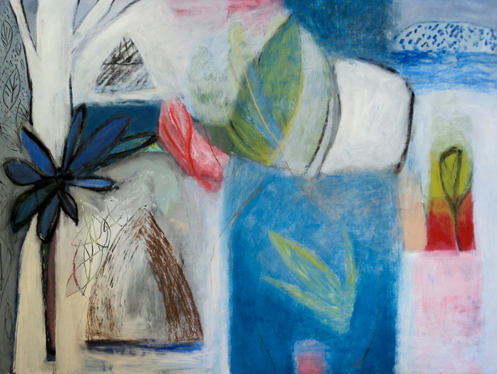 """Do You Remember The Pleasure Of That Spring? acrylic on paper, 22""""x 30"""" SOLD"""