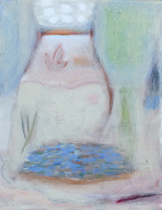 """Offering, Small Pool, acrylic on canvas, 10""""x 8"""" SOLD"""
