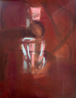 "New Dawn, acrylic on paper, 17""x 14"""