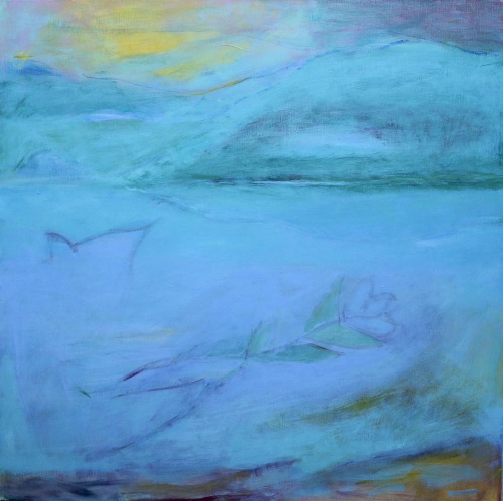 Flower Of The Sea, acrylic on canvas, 24 x 24