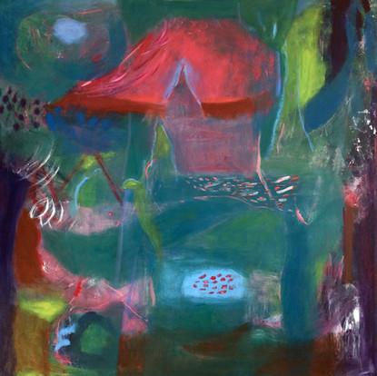 "The Calling, acrylic on canvas, 24""x 24"""