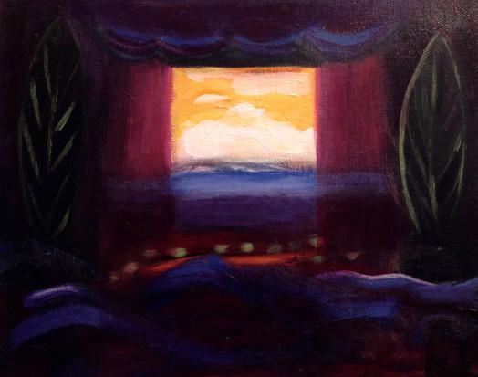 "Last Show, acrylic on canvas, 8""x 10""SOLD"