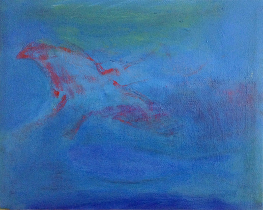 """Song In The Water, acrylic on canvas, 8""""x 10"""" SOLD"""