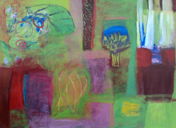 """Every Year The Riot Of Green, acrylic on paper, 22""""x 30"""""""
