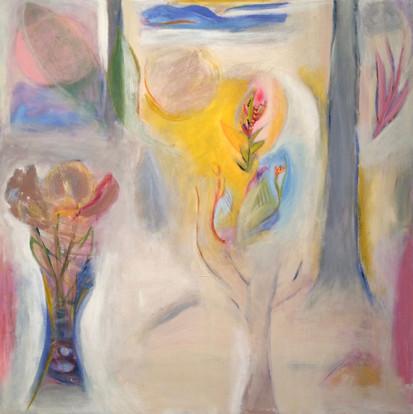 "Song Through The Trees, acrylic on canvas, 24""x 24"""
