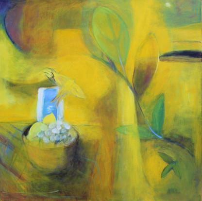 """Light From A Distant Sun, acrylic on canvas, 20""""x 20"""""""