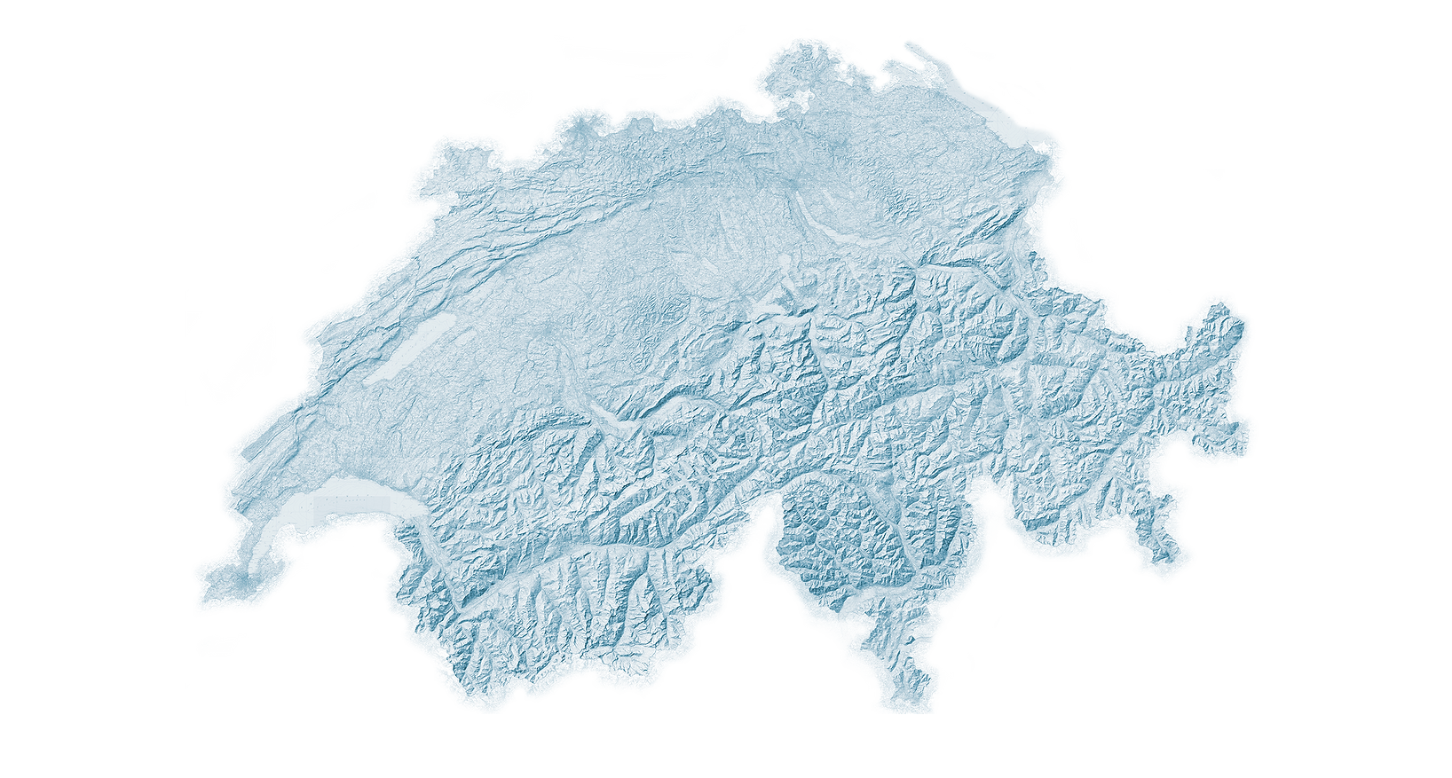 Die Schweiz, Hangneigungskarte