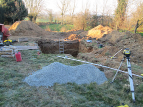 More Preparations For The Biodigester Installation:  The Concrete Base Is Going In!
