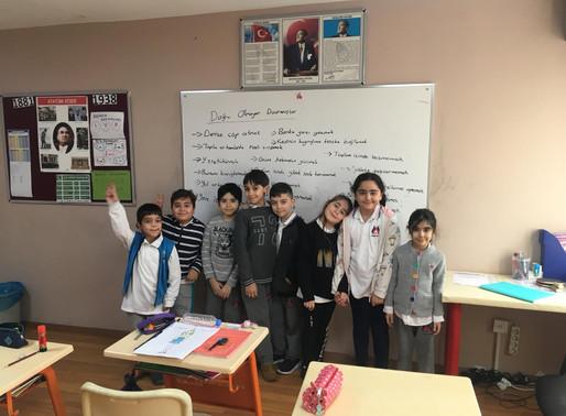 Doğru olmayan davranışlar ve çözüm önerileri etkinliğimiz ilkokul öğrencilerimizle yapıldı.