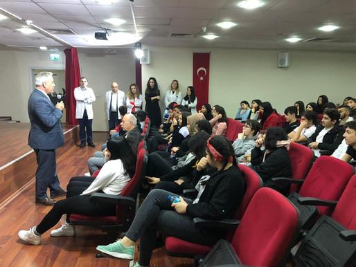 İstanbul Aydın Üniversitesi Öğr. Görevlisi Halil İbrahim KÖKÇÜ lise öğrencilerimize seminer verdi.