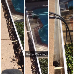 Rain Gutter Cleaning Before & After