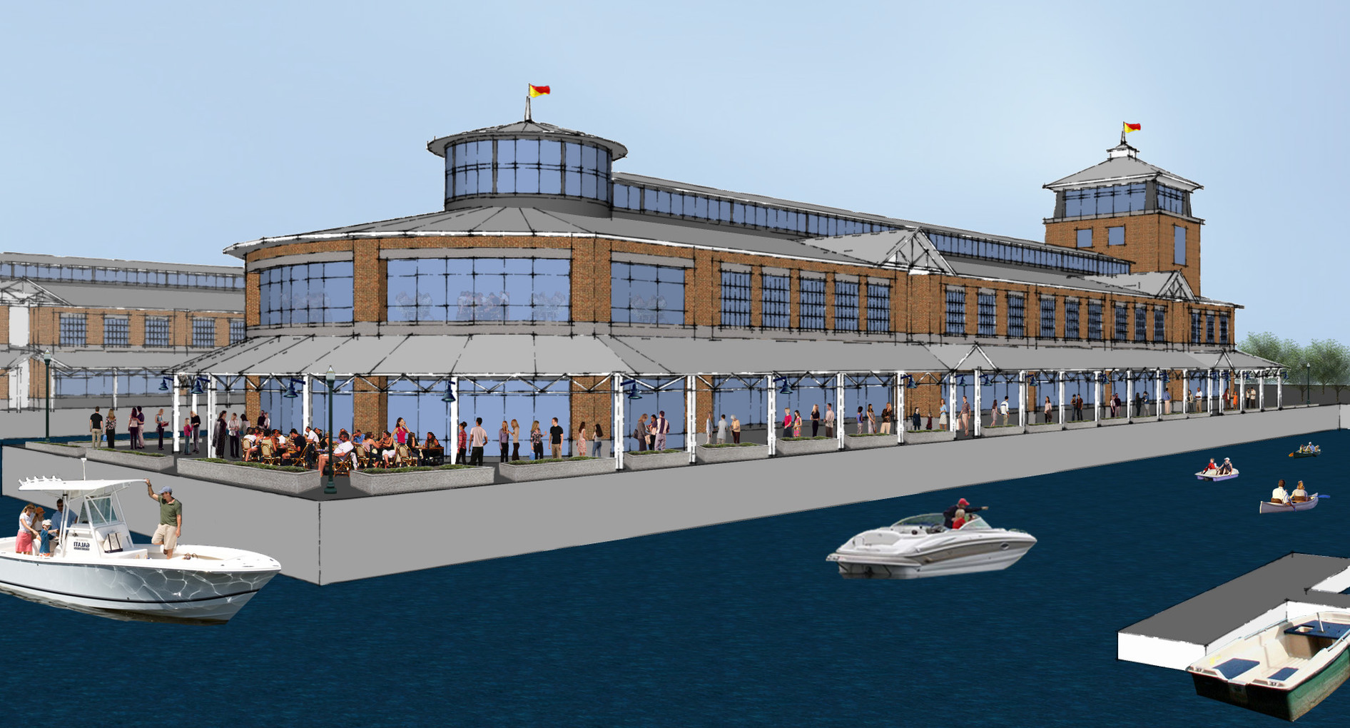 Syracuse Inner Harbor Master Plan - Exterior Rendering